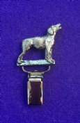 Dog Show Breed Ring Number Clip - Brittany Spaniel - FULL BODY Silver or Gold Style
